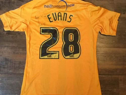 2010 2011 Hull City Evans Match Worn Marie Curie Home Football Shirt